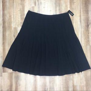INC New Black Pleated Skirt 22W